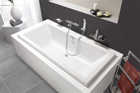 baignoire rectangulaire double dos quadra rectangulaire