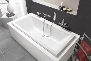 Baignoire Pour 2 : baignoire rectangulaire double dos quadra rectangulaire ~ Edinachiropracticcenter.com Idées de Décoration
