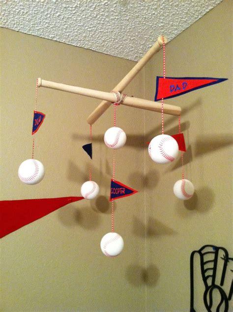 homemade baseball baby mobile diy baseball pinterest
