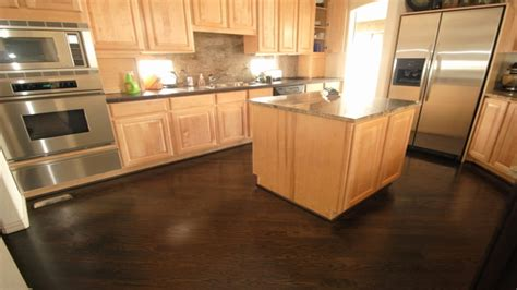 hardwood floors cabinets dark hardwood floors with light wood cabinets home flooring ideas