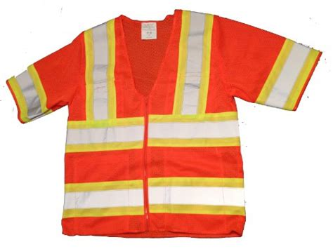 Polyester Mesh Vests Ansi Class 3 Safety Vest With Short