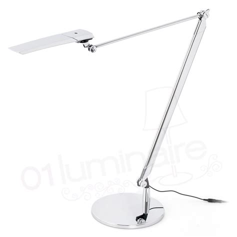 bureau chrome le bureau katana led chrome variateur 55205 faro