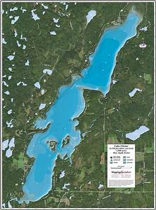Lake Chetac Enhanced Wall Map