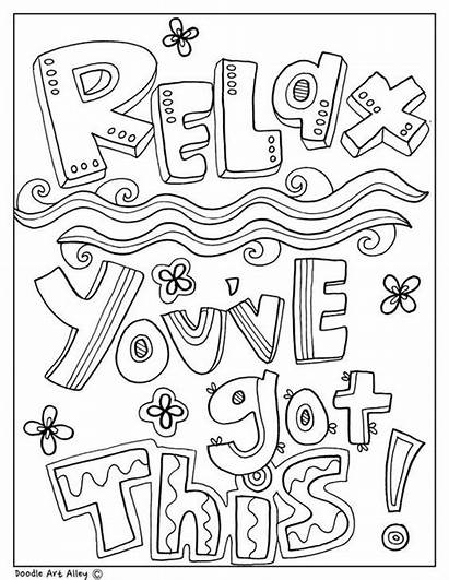 Coloring Pages Quotes Educational Printable Colouring Quote