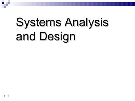 system analysis and design 8 2 system analysis and design