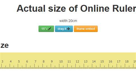 ruler actual size   ruler web based
