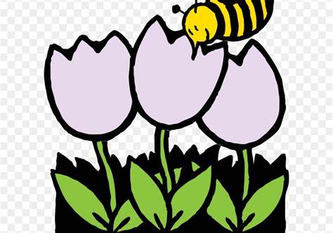 gambar mewarnai lebah dan bunga
