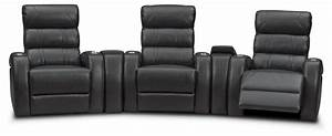 Bravo 5 piece power reclining home theater sectional for 5 piece home theater sectional sofa