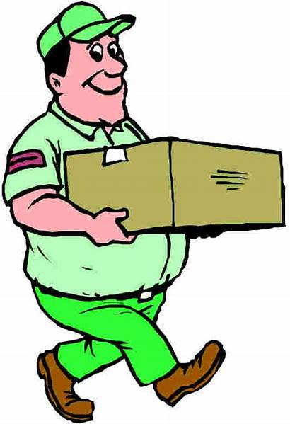 Carry Clip Clipart Box Moving Carrying Person
