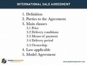 international sale agreement template With international trade contract template