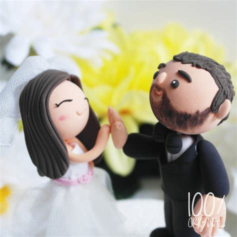 high five wedding cake topper custom wedding cake topper high five