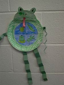 Life Cycle of a frog. The frog is made from a paper plate ...