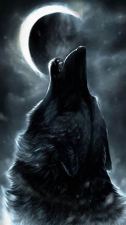 Wolf Howling Dark Moon Teahub Io