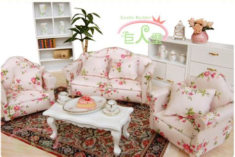 1 12 dollhouse miniature living room furniture sofa set