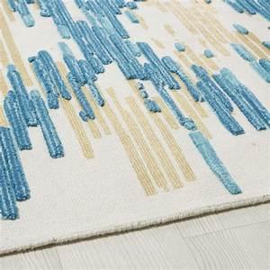 Teppich Aus Wolle : teppich aus wolle und baumwolle mit streifenmuster 140x200 moonstone maisons du monde ~ A.2002-acura-tl-radio.info Haus und Dekorationen