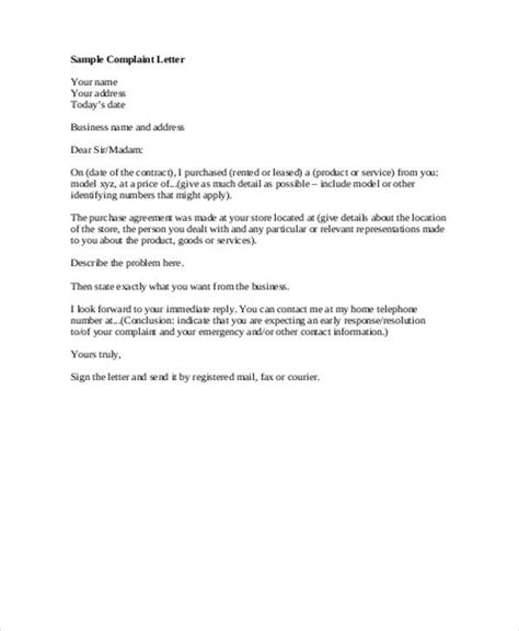 example of business letter 7 formal business letter examples sample templates 21567 | Formal Business Complaint Letter Example