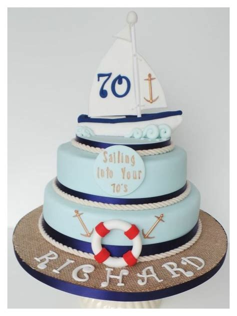 Sailing Boat Cake by 70th Birthday Sailing Boat Cake Adult Cakes Pinterest