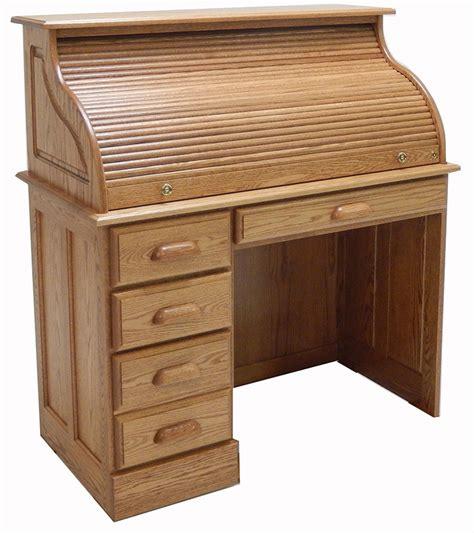 solid oak roll top desk 42 quot w solid oak single pedestal roll top desk