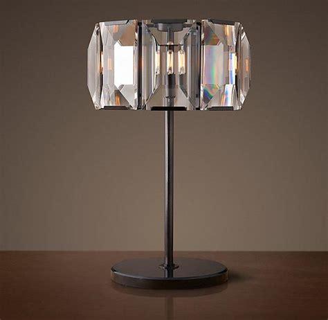carlotta faceted crystal bedside lamp base