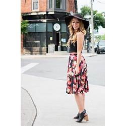 9798cec53 Ootd Floral Midi Skirt For Summer La Petite Noob A Toronto Based Fashion  And Lifestyle Blog