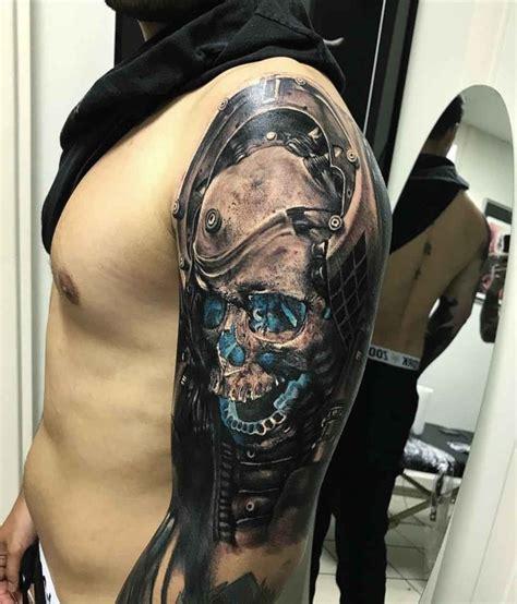 futuristic skull tattoo  tattoo ideas gallery