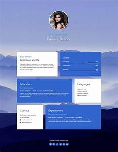 template 467 easy profile With html profile template