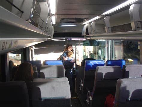 greyhound bus interior