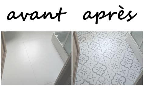peindre carrelage sol cuisine relooker sol façon carreaux ciment tuto by me