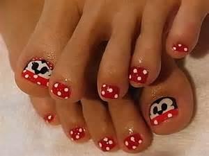 Toe nail art disney