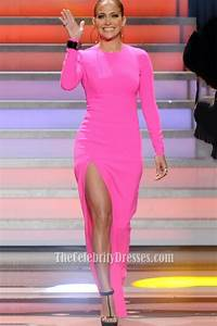 Rihanna Chart History American Idol Pink Long Sleeved High Slit