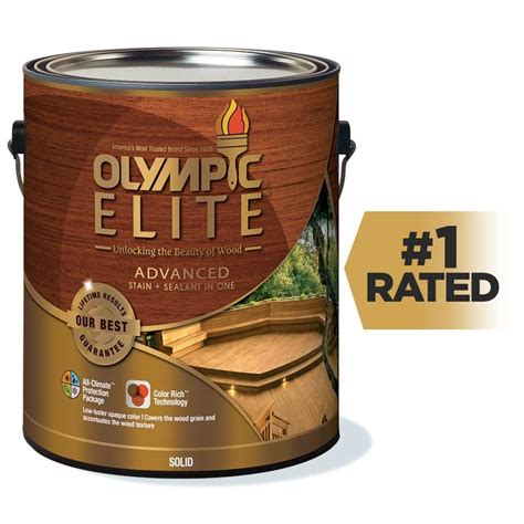 shop olympic elite tintable base  solid exterior stain