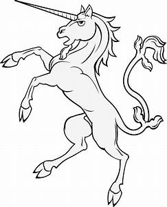 Unicorn Clipart Black - ClipartXtras