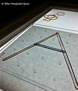 geoboard light table play with letters shapes With light table letters