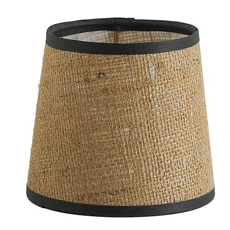 5 quot burlap chandelier shade with brown trim