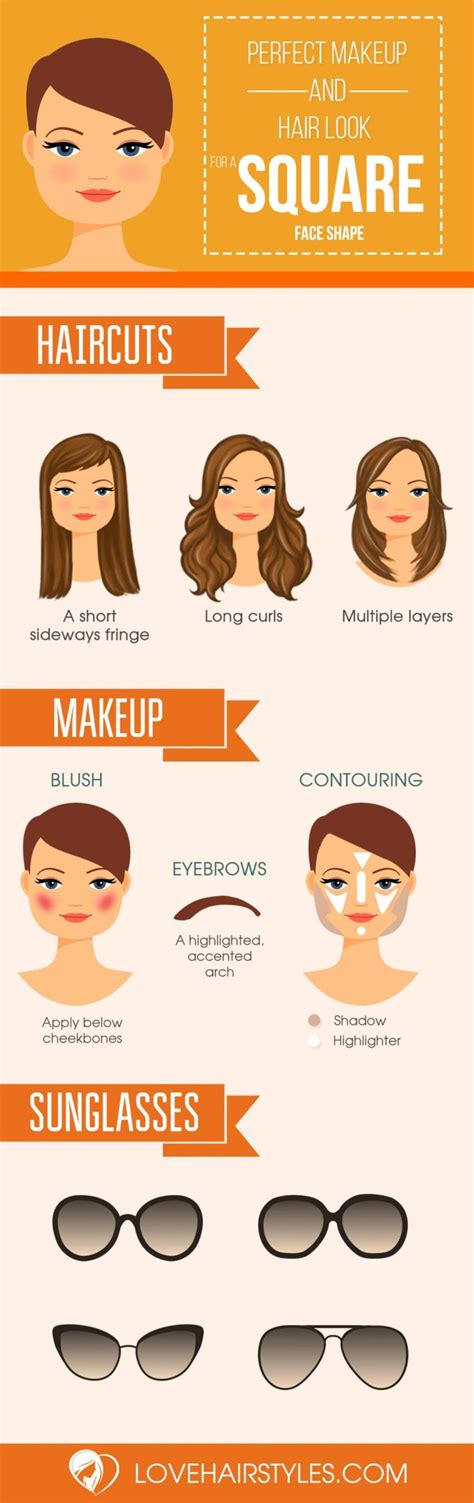 ideas  hairstyles  face shapes