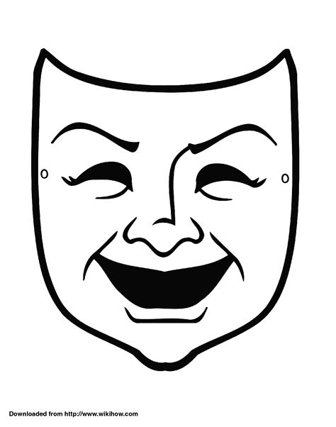 Ancient Mask Template by Mask Comedy Pencil And In Color Mask Comedy