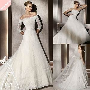 long sleeves lace bridal dresses ideas designers outfits With long lace wedding dress