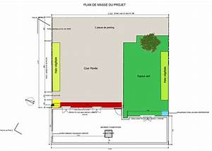 wonderful plan de masse garage images best image engine With plan maison avec jardin interieur 15 plan de masse lamaisonvertlagon