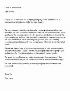 letter of introduction template 15 sss pinterest With cover letter for introducing your company