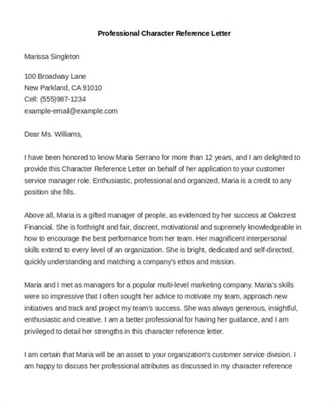 professional reference letter sle professional reference letter 8 free documents in pdf doc