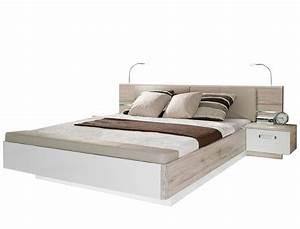 Bett 160x200 Weiß : doppelbett rubio 3 sandeiche wei hochglanz 160x200 bett mit 2x nako wohnbereiche schlafzimmer ~ Indierocktalk.com Haus und Dekorationen