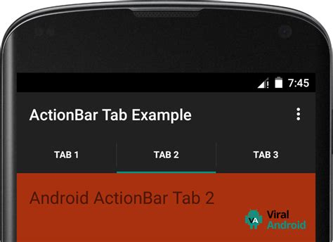 android bar android actionbar tabs exle viral android tutorials
