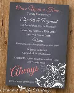 Printable Wedding Vow Renewal Invitations