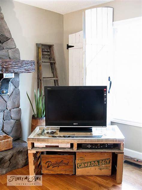 party junk  cool diy tv standsfunky junk interiors