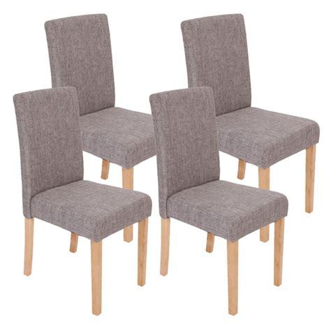 chaises tissus lot de 4 chaises de salle à manger en tissu gris pieds