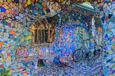 mosaic tile house inside venice s one of a mosaic tile house curbed la