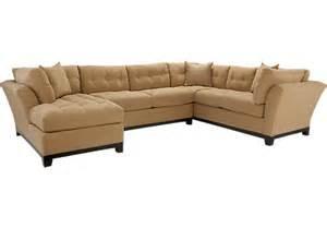 cindy crawford metropolis peat 3pc sectional living room
