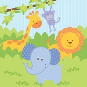 Forest Friends Jungle Party Paper Lunch Napkins x 16