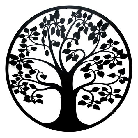 black metal wall decor 99cm black metal tree of wall circular