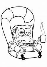 Spongebob Coloring Sponge Bob Pages Episodes Coloring2print sketch template